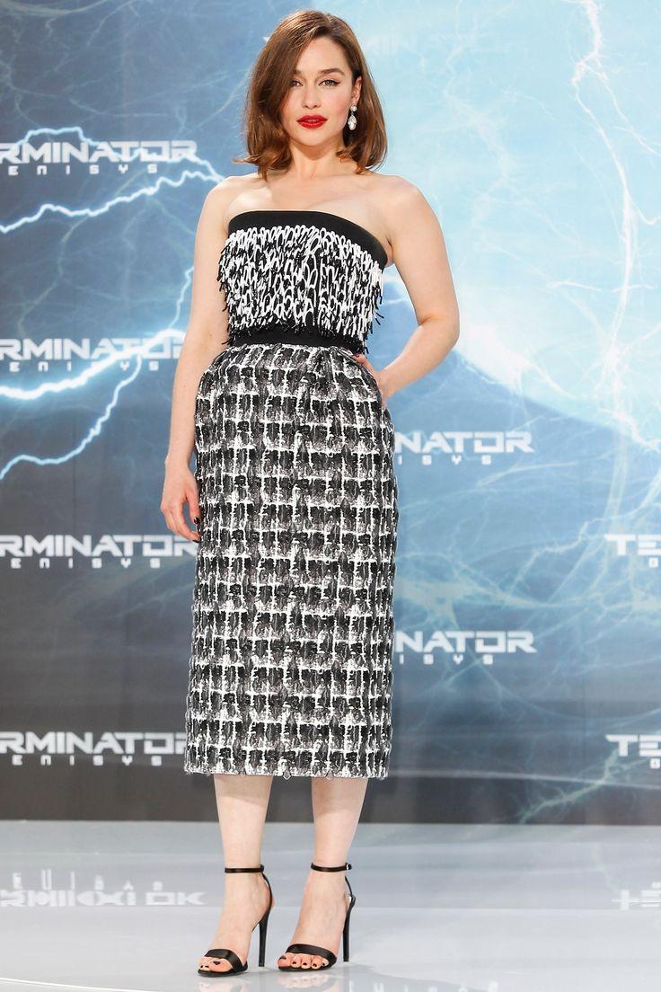 Emilia Clarke in a Balenciaga dress -Terminator: Genisys premiere, Berlin - June 20 2015