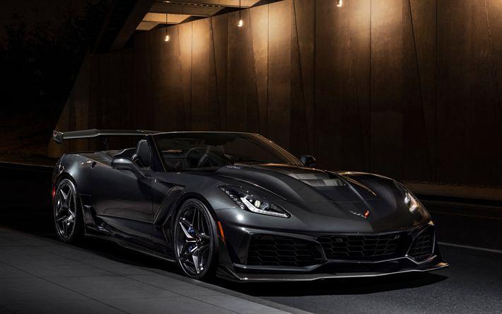 Download wallpapers Chevrolet Corvette ZR1, supercars, 4k, 2019 cars, new Corvette, Chevrolet