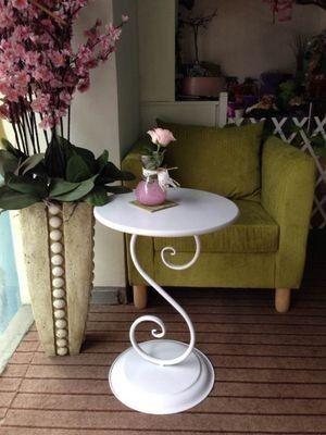 Континентальный Железный небольшой журнальный столик маленький круглый столик компьютерный стол стол стол телефон доставка кафе запас - Taobao