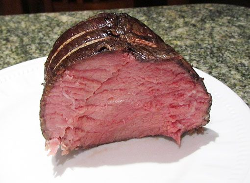 Rare rump roast from The Orgasmic Chef