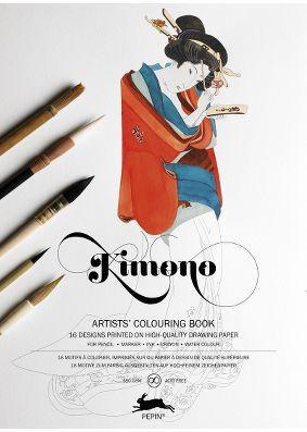 Pepin Press Colouring Book - Kimono