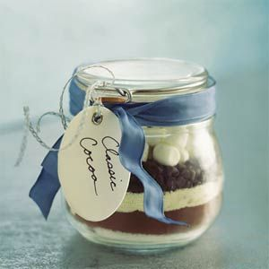 Cocoa mix in a jar