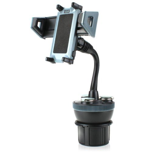 nice USA GEAR Adjustable Car Cup Holder Phone Mount & Charging Station with 3 DC Outlets and Dual USB Ports for Samsung Galaxy S4 / S IV , LG Nexus 4 , Moto X & More Smartphones and MP3 Players