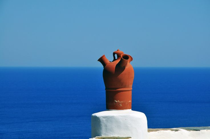 smoke outlet - An old chimney in Sifnos island, Greece.