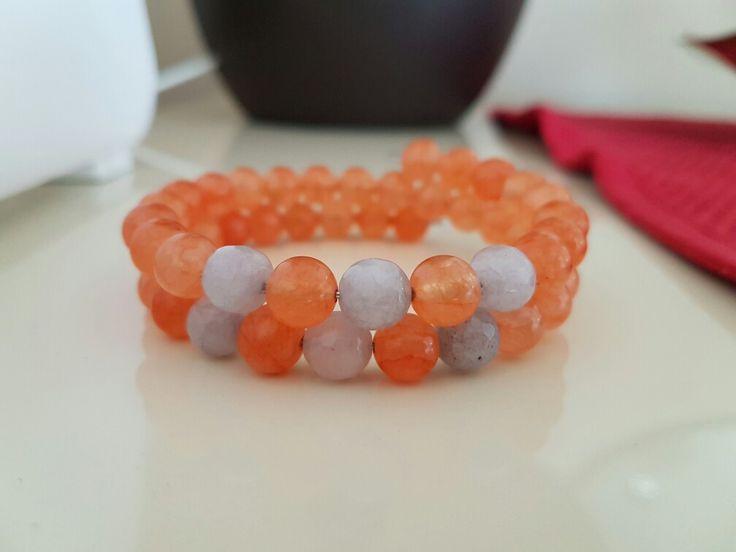 Stone multipple bracelet turange grey perfect fit