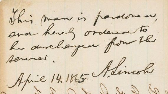 Abraham Lincoln Presidential Pardon