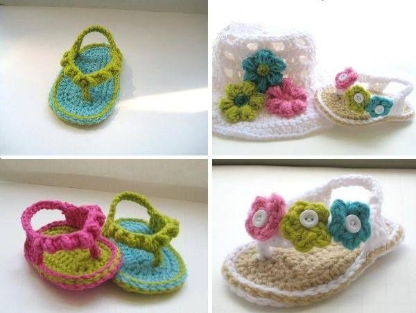 Crochet Baby Flip Flops!