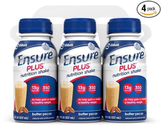 Обеспечить Plus Nutrition встряхивание, масло Пекан, 8 унций бутылка, 6 граф, (комплект из 4)