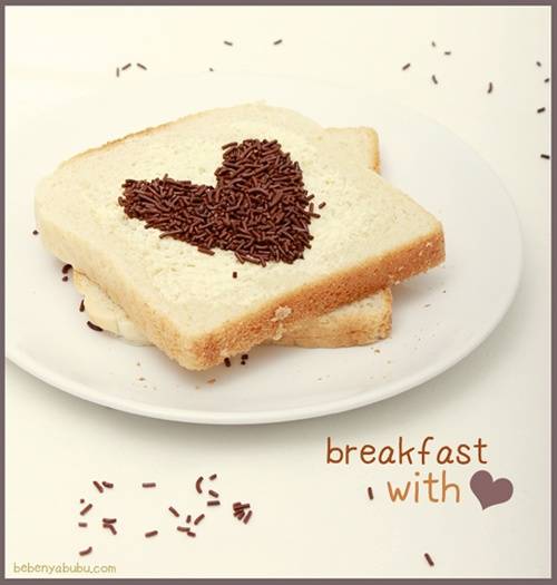 Did you have your breakfast filled with love today? #food