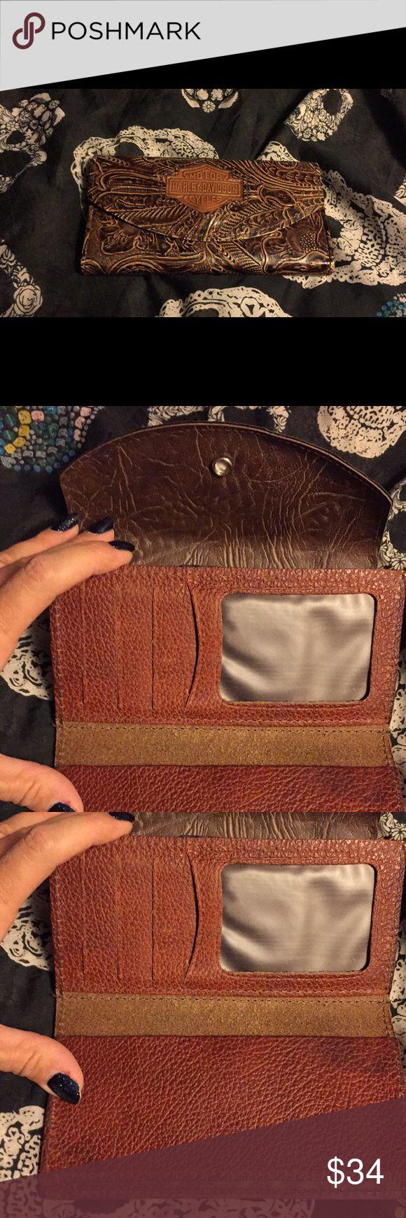 Harley Davidson Wallet Gently loved. Harley Davidson wallet. Vegan leather. Harley-Davidson Bags Wallets