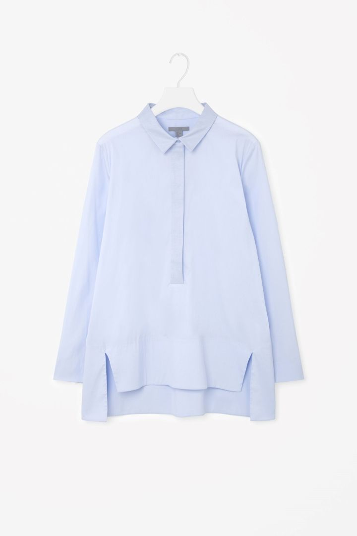 COS image 5 of Grosgrain collar shirt in Pale Blue
