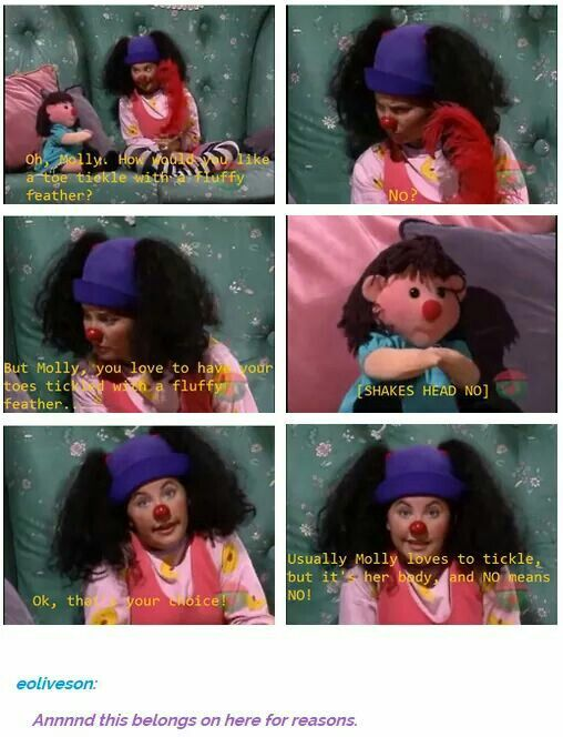 "Start teaching them young. Very young. consent is everything. Extra points for it being the ""big comfy couch""."