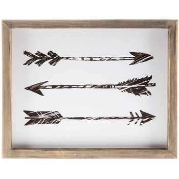 Triple Arrow Framed Wall Decor