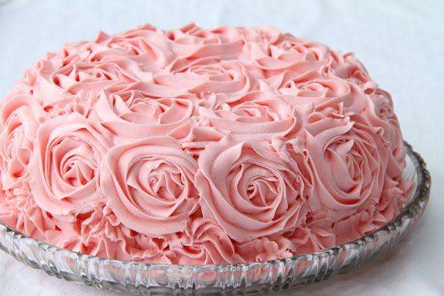 торт со съедобными розами из крема 2, идея