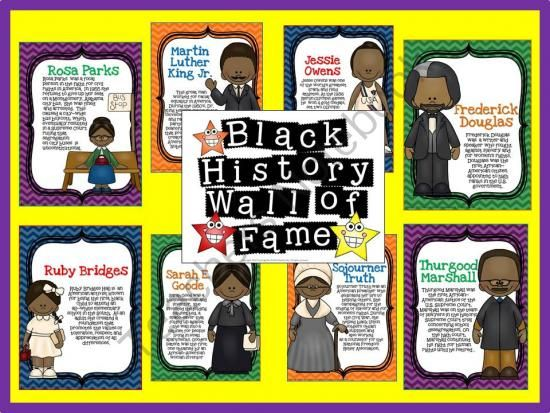 Black History Wall of Fame Bulletin Board from The Bulletin Board Lady ...