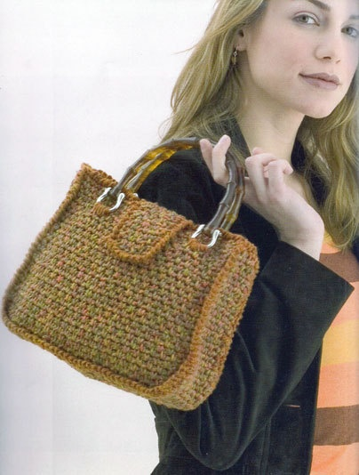 Crochet tweed bag  crochet pattern  easy pattern by elsahats