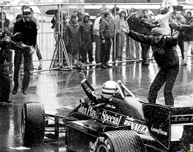 Senna's first win in F-1 was for Lotus at Estoril in 1985
