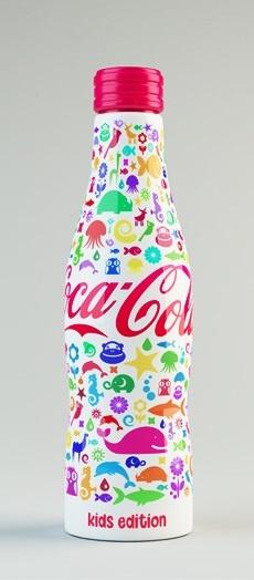 Shamil Ramazanov's colorful Coca Cola bottle design
