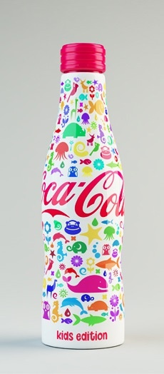 Shamil Ramazanov's colorful Coca Cola bottle design