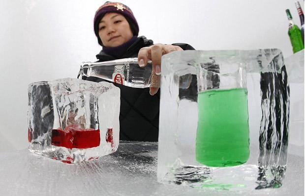 An ice bar in an ice hotel in an ice village at Alpha Resort-Tomamu in Shimukappu town, Hokkaido, Japan - Telegraph