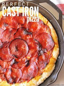Perfect Homemade Cast Iron Skillet Pizza