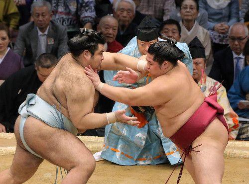 大関取りの高安、白星スタート!遠藤を一方的に突き出しで圧倒、2日目は豪栄道と対戦 #相撲