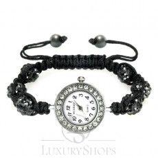 Dámské hodinky Kamínky černé