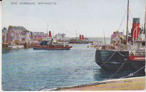 Valentines Valesque Series Postcard - The Harbour, Weymouth - JV 96108