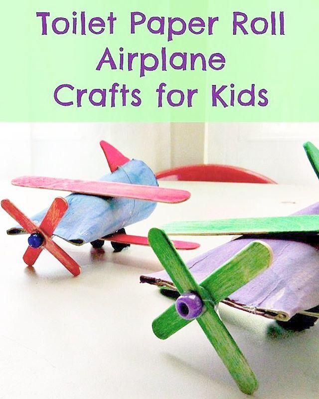 Gör fina flygplan av toarullar och glasspinnar Beskrivning finns på…