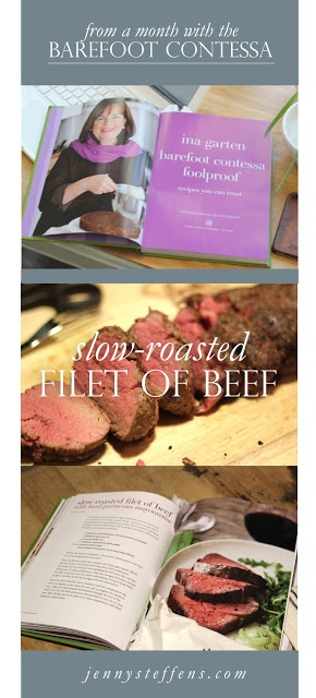 Slow Roasted Beef Tenderloin | The Barefoot Contessa Project @InaGarten    Join me as I cook my way through The Barefoot Contessa cookbooks!    http://jennysteffens.blogspot.com/2013/01/slow-roasted-beef-tenderloin-barefoot.html