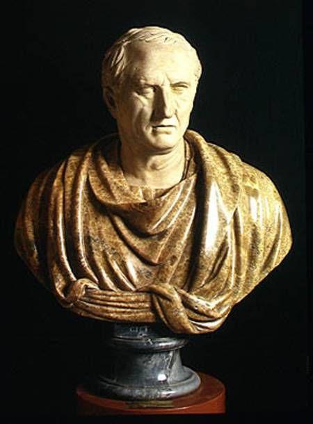 Roman-Bust of Marcus Tullius Cicero (106-43 BC) (marble & stone)