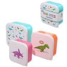 Click and shop now for Fun Dinosaur Design Set of 3 Plastic Lunch Boxes by weeabootique
