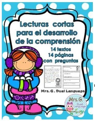 Spanish reading comprehension winter stories. Cuentos de invierno para el desarrollo de la comprension