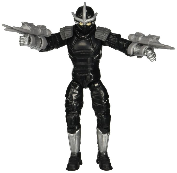 "Teenage Mutant Ninja Turtles Movie 2 Out Of The Shadows Shredder Basic Figure. Shredder is back, and ready to take on the Turtles one more time!. 5"", fully pose able figure inspired by the movie Teenage Mutant Ninja Turtles Out of the Shadows from Paramount Pictures. Includes gas gun and 2 knife gauntlets."
