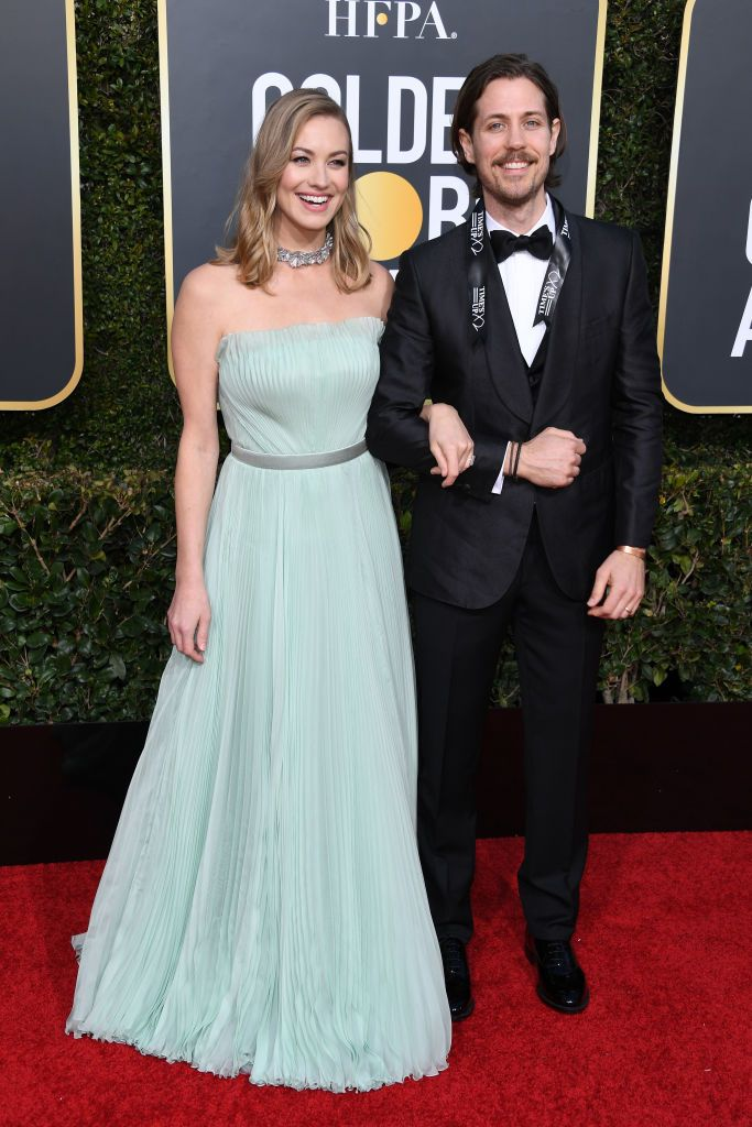 Yvonne Strahovski And Tim Loden Attend The 76th Annual Golden Globe Strapless Dress Formal Yvonne Strahovski Green Dress Yvonne strahovski used instagram to announce the news. yvonne strahovski and tim loden attend