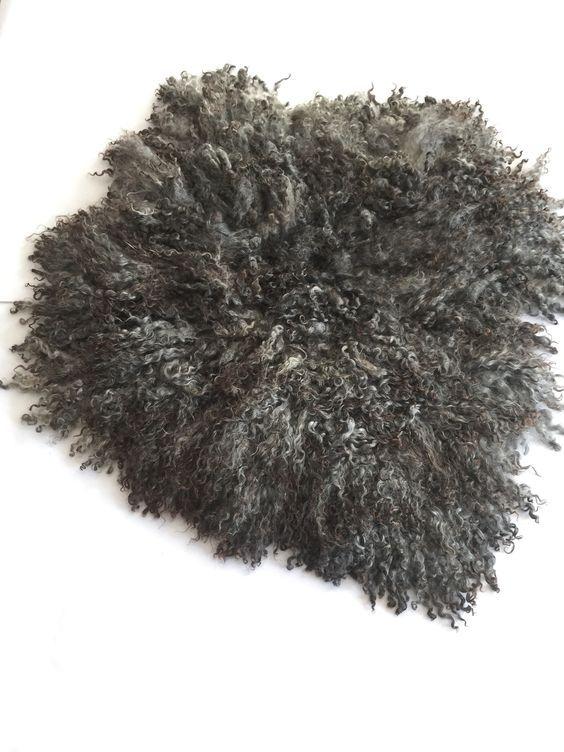 Gotland schapenvacht Lummelklikt u op de foto,s om ze scherp in groot formaat te zien.Prachtige krullen vacht van het zweedse gotland schaap (zie foto)zijde zachte krullen in donkere antraciet grijze kleur en iets bruinig in de puntjes. zal weinig tot niet verharen.een groot zwaar en dik  kleed van een  zeldzaam schapenras. De jas van Lummel heeft een afmeting van 90 bij 100 cm.Lummel is het broertje van de andere gotland vachten in de webshop en woont in Friesland samen met zijn familie en…