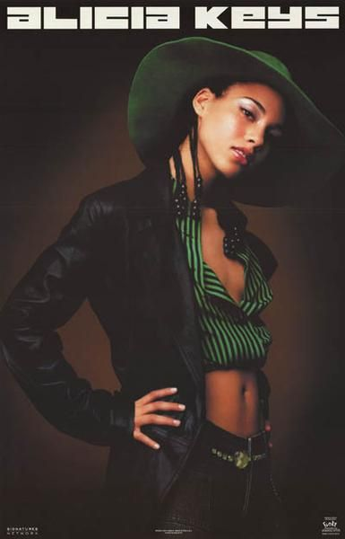 A great poster of Alicia Keys featuring the album cover art from Songs in A-Minor! An original published in 2002! Fully licensed. Ships fast. 22x34 inches. Need