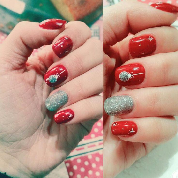 #nails #gel #glitter #unghiemania #unghiegel #nailart #christmasnails #redpassion #unghienatalizie