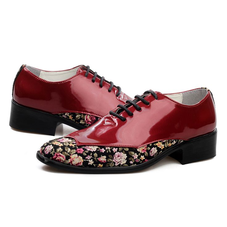 cheap japanned leather fashion mens wedding shoes have flower print vamp high quality gents oxfords shoes man floral party shoes - www.eneryoh.com