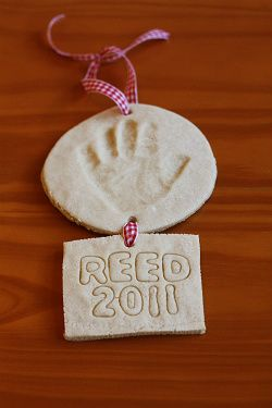 salt dough ornament-I'm definitely making these this weekend with all of their handprints!