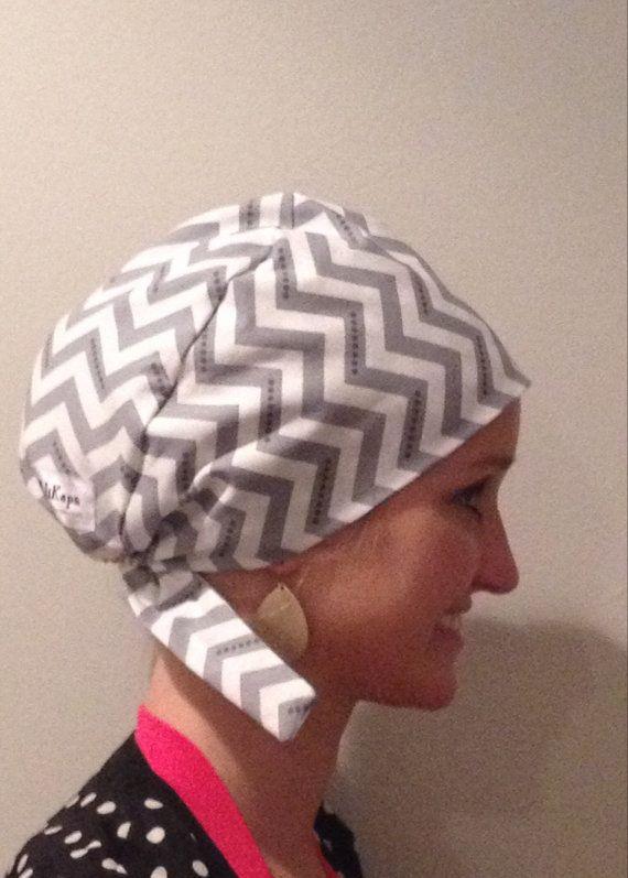 scrub hat surgical hat chevron gray polka dot