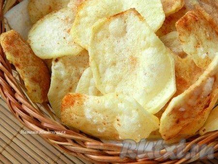 Домашние картофельные чипсы в микроволновке