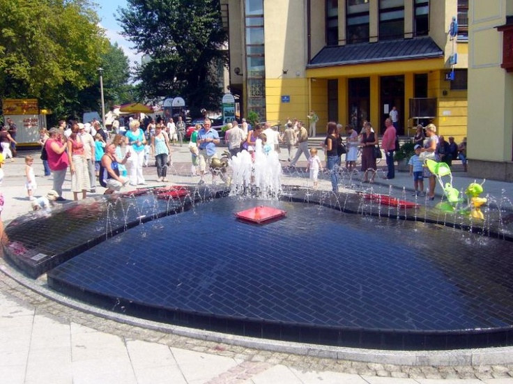 Bielsko Biala city fountain