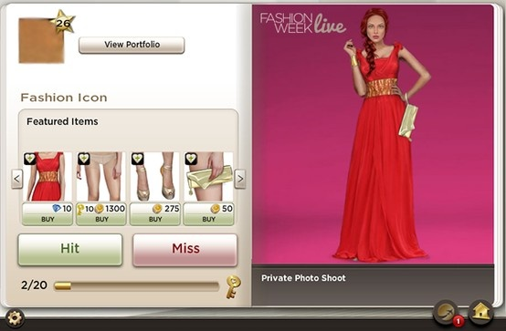 Today's favorite snapshot from explore! Browse through all of Fashion Week Live's players' portfolios. You can rate as many looks as you want and earn a gold key after every 20 ratings.  Draw inspiration from other fashion fans and even find that limited item you've been searching for!