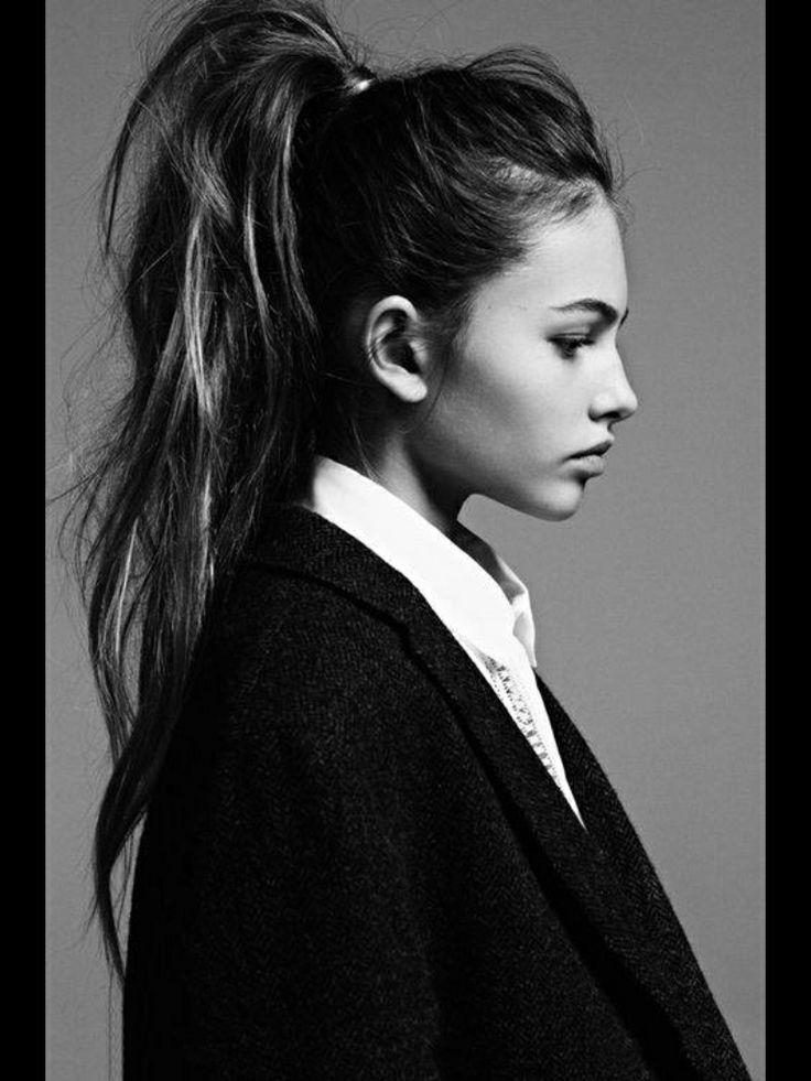 High messy ponytail