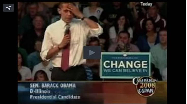 After Watching This Video Of Himself Will Obama Resign?  obama's actions don't help the middle class.