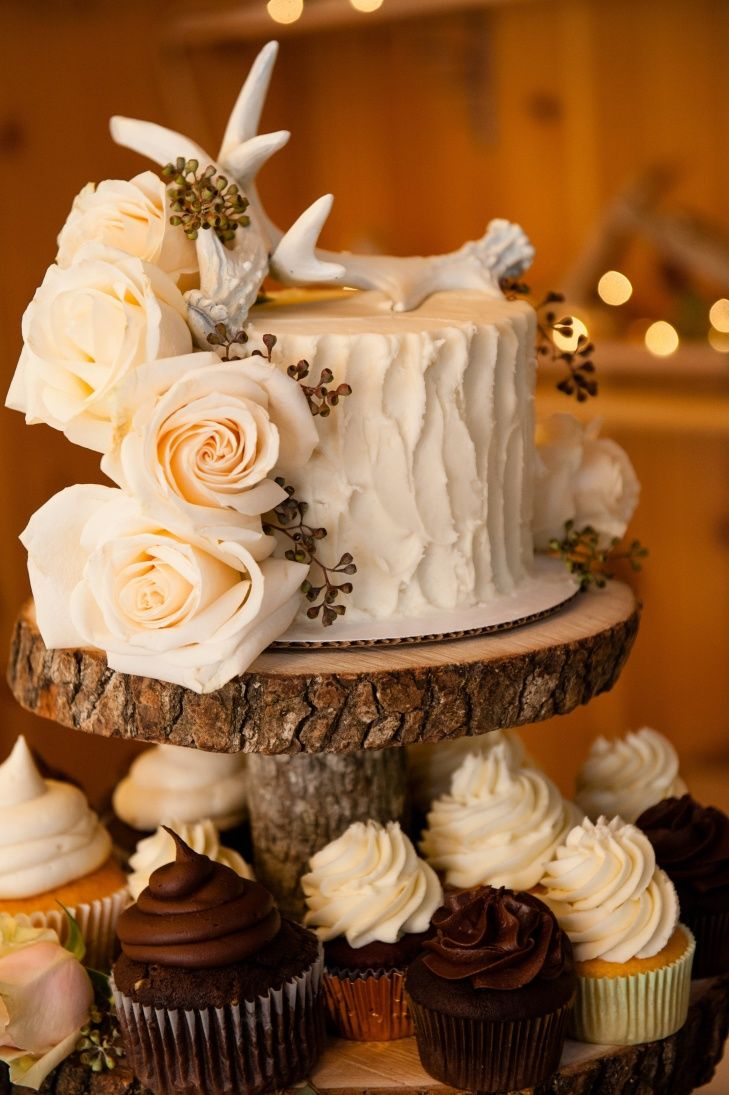 Country wedding cakes pictures - We Can Do Something Like This With 2 Layers And A Baby Owl And Momma Owl