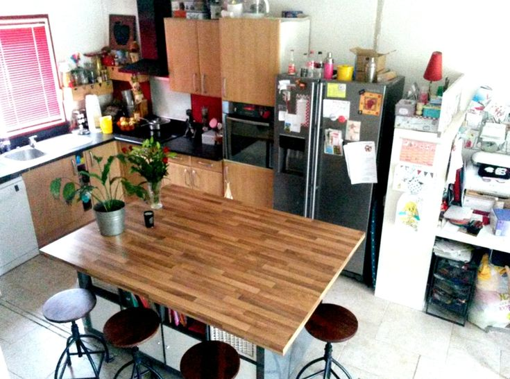 Ilot central avec 2 expedit kallax ik a hack my home for Ilot table de cuisine ikea
