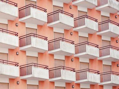 Venetian hotel balconies from photographer Luigi Bonaventura