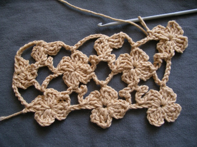 Crochet Flower Stitch - Chart